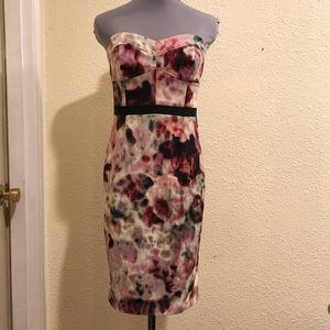 Moulinette Soeurs Strapless Watercolor Dress